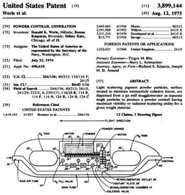 Diagram of Patent for creating Powder Contrails